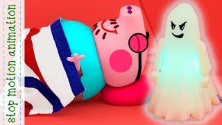 Frightening snoring. Peppa Pig toys Stop motion animation new episodes 2018