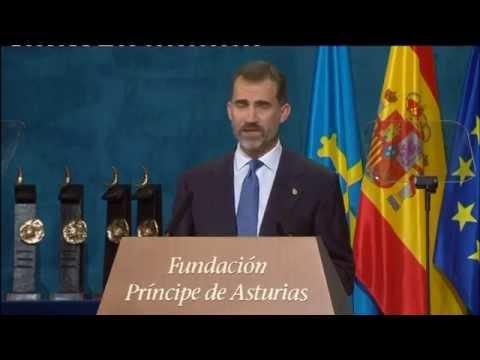 Discurso de S.M. el Rey en la entrega de los  Premios Príncipe de Asturias 2014