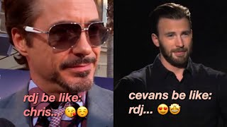 robert downey jr. and chris evans being the best marvel duo for 8 minutes straight