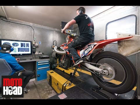 What a sound! Our 2018 KTM SX 150 two-stroke with Boyesen reeds on the dyno!