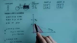 Lineær programmering Anvendelse del 2