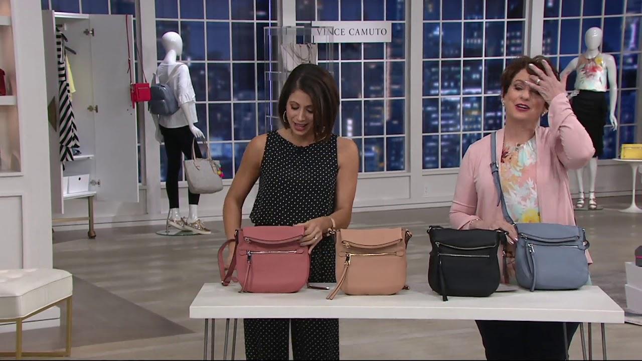 56b4761da Vince Camuto Leather Crossbody Handbag - Tala on QVC - YouTube