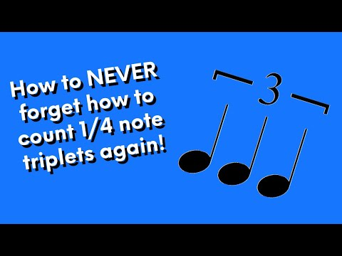 Easy trick to remember how to count 1/4 note triplets!