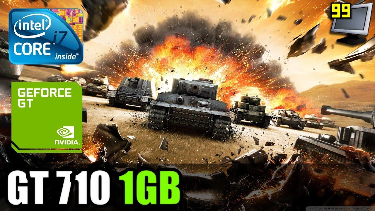 World Of Tanks On Geforce Gt 710 720p Test
