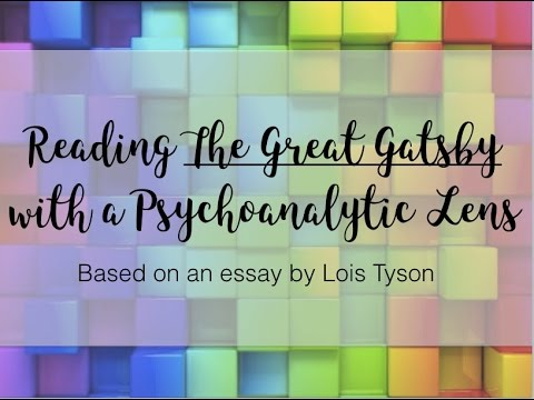 Thesis Statement For Argumentative Essay The Great Gatsby  Psychoanalytic Lens Student Life Essay In English also How To Write An Application Essay For High School The Great Gatsby  Psychoanalytic Lens  Youtube Research Essay Papers