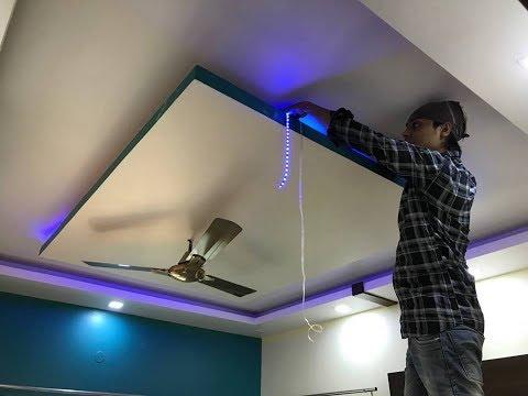 False Ceiling में Led Stripes Light कैसे लगाते हैं ? Led stripe light installation in False ceiling