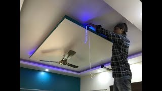 False Ceiling में Led Stripes Light कैसे लगाते हैं ? Led stripe light installation in False ceiling