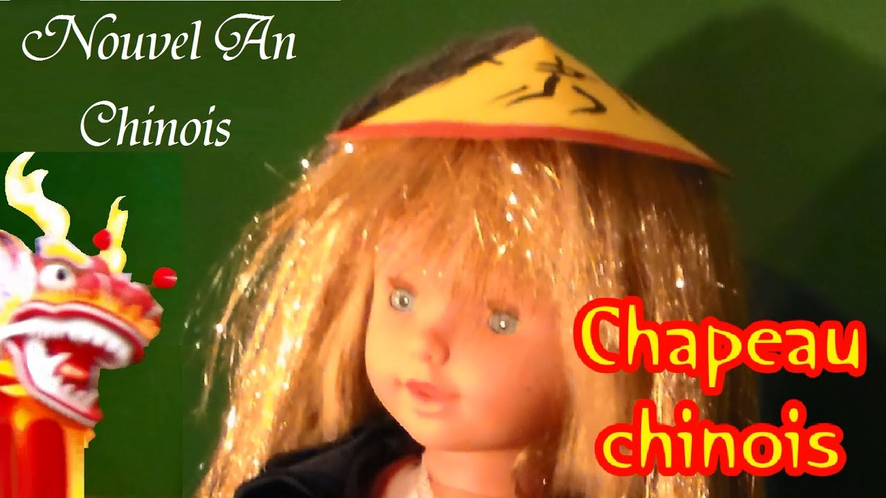 bricolage un chapeau chinois f te nouvel an chinois et carnaval youtube. Black Bedroom Furniture Sets. Home Design Ideas
