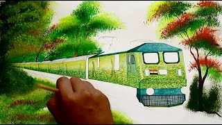 DURONTO EXPRESS Painting || Loco and coaches, all in duronto livery