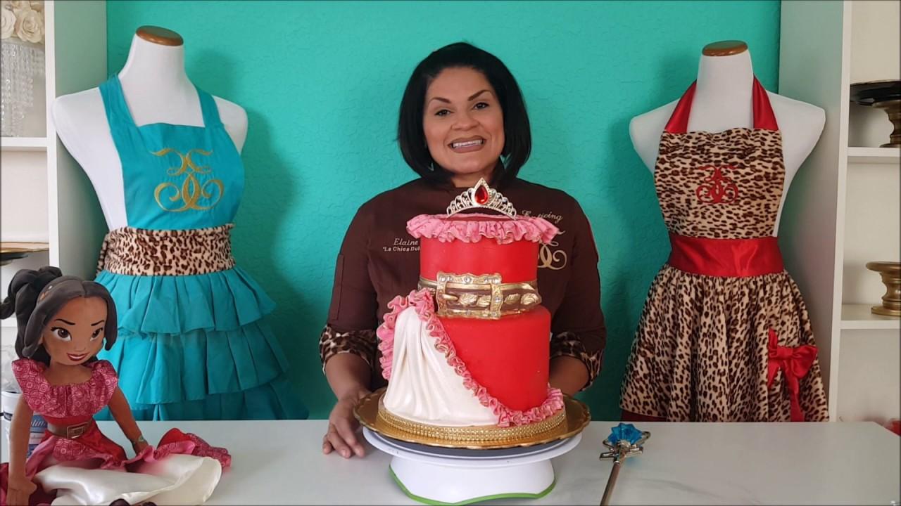 How To Make Disney Princess Elena Of Avalor Dress Cake