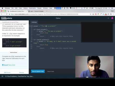 Codecademy - Python: Tutorial #3