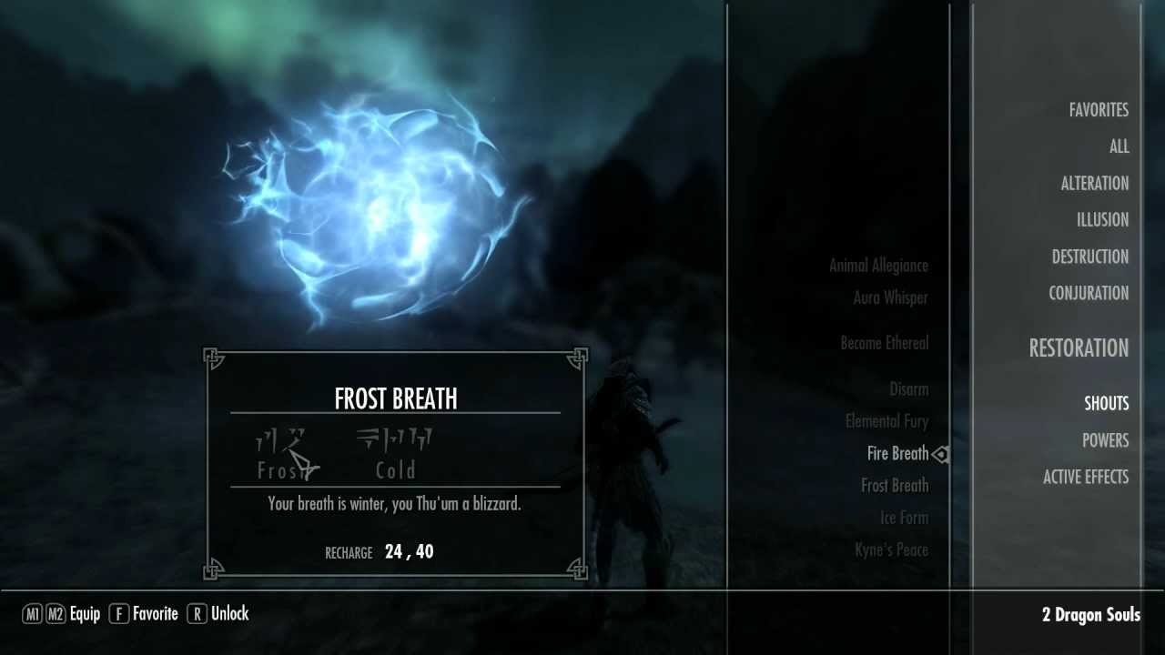 Skyrim Shout Locations Ep. 10- Frost Breath (Second Word) - YouTube