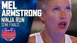 Former Olympian Mel Armstrong reaches the Warped Wall  | Australian Ninja Warrior 2019