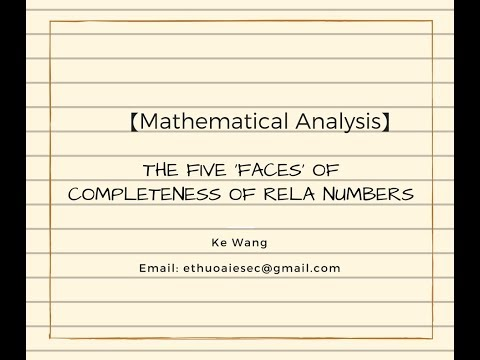 【Mathematical Analysis】The five 'Faces' of the completeness of real numbers part 1