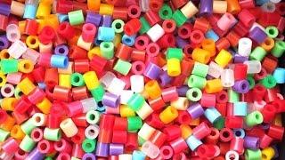 Os muestro mis Hama beads y placas