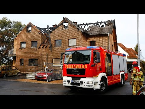Die Zerstörung am Tag nach dem Großbrand in Siegburg