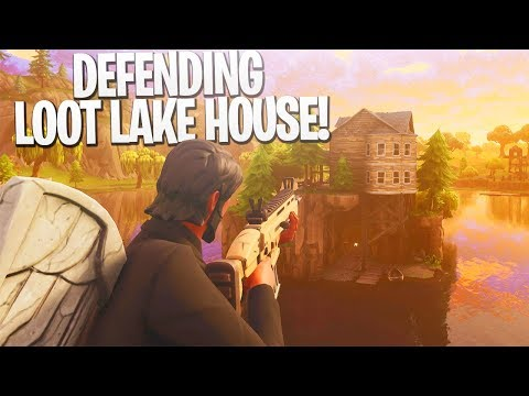 DEFENDING Loot Lake House 1v9! - PS4 Pro Fortnite BR Limited Time Mode Gameplay!