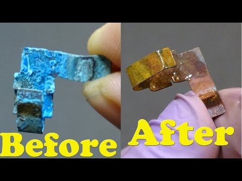 How to clean a corroded battery terminal (AA or AAA)