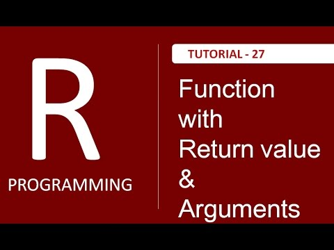 How to return value from Function in R : Tutorial # 27