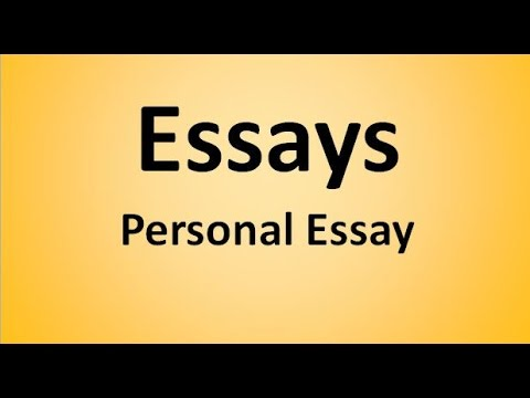 Видео Personal essay introduction examples
