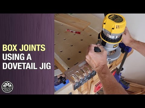 Box Joints Using A Dovetail Jig // Woodworking