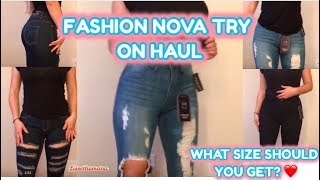 fashion nova try on haul (jeans size 3)
