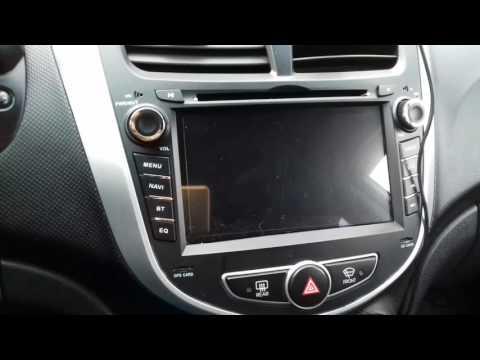 2 DIN магнитола с Алиэкспресс  с навигатором для Solaris