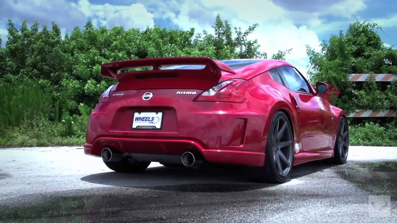 Nissan 370Z NISMO on 20' Vossen CV7 Concave Wheels Rims ...