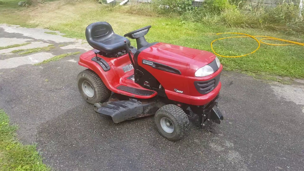 Craftsman 3000 Lawn Tractor : Craftsman lt lawn tractor youtube
