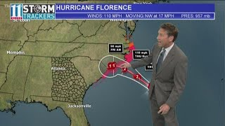 Hurricane Florence weakens to Category 2 storm