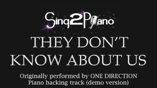 They Don't Know About Us - One Direction (Piano backing track)