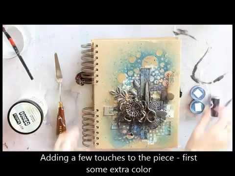 Cutting edge art journal - Finnabair Creative Team
