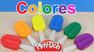 Aprender los colores con helados de plastilina Play Doh | Paletas de plastilina Play Doh en español