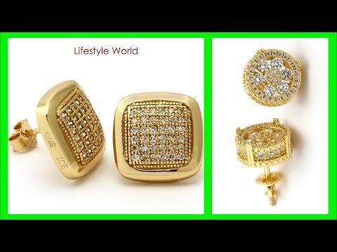TOP 30 GOLD Drop EARRING Design for men |  Gold Jewellery Designs | Mens Gold Earrings Designs