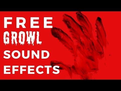 GROWL SOUND EFFECT -- Free Sfx Download In Description!