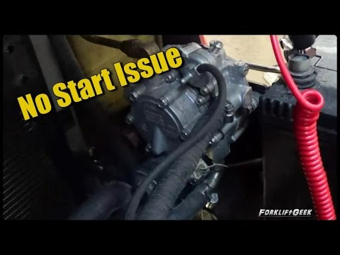 Toyota forklift no start issue - YouTube