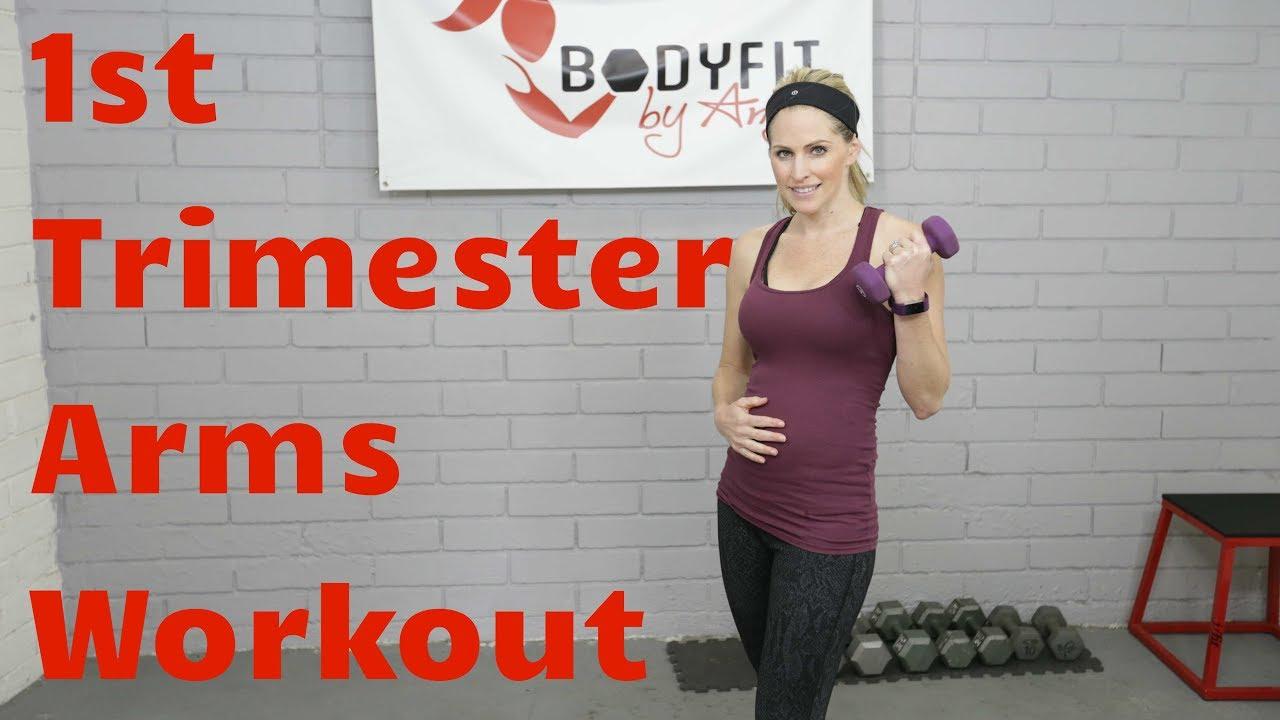 5a1d4694e8e85 15 Minute First Trimester Prenatal Arms Workout---Safe Upper Body Pregnancy  Exercises