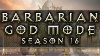 Diablo 3 Barbarian Build GOD MODE Speedrun Farming Season 16 Patch 2.6.4