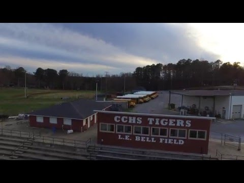 Cleburne County High School Drone Flyover January 2016