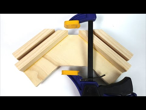 Homemade Coner Clamp. DIY One Point Wooden Coner Clamp