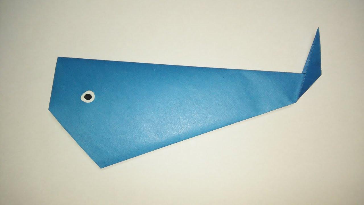 орігамі риба кит - YouTube