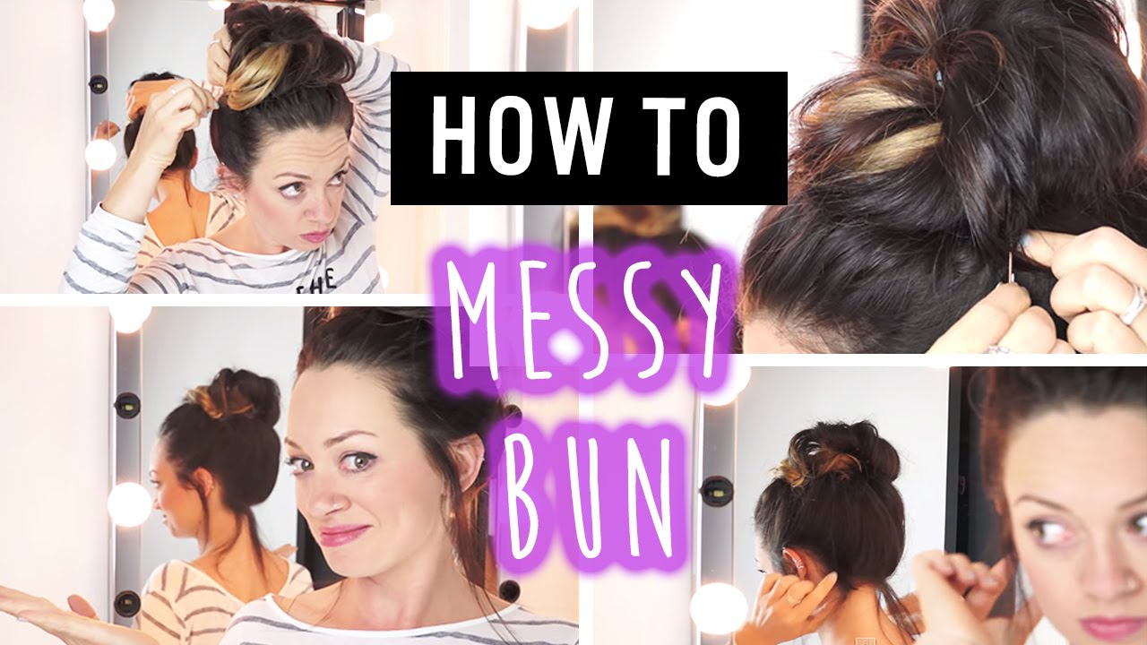 quick & easy travel hairstyles: messy bun - youtube