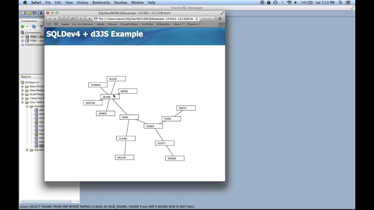 5 in 5 Vizualization 2 - Generating a d3 js visualization from a SQL