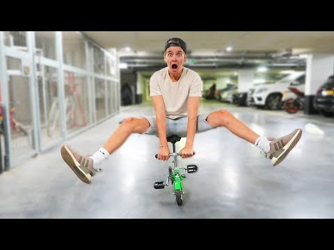 RIDING THE SMALLEST BIKE EVER