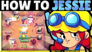 How to Use u0026 Counter Jessie! | 3 Best Turret Positions! | Jessie Tech! | Brawl Stars Guide