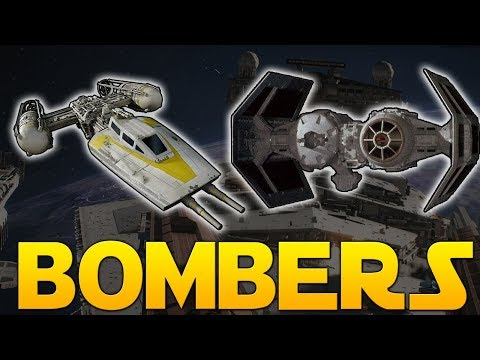 BOMBER CLASS OVERVIEW (Y-Wing & TIE Bomber) - Star Wars Battlefront II
