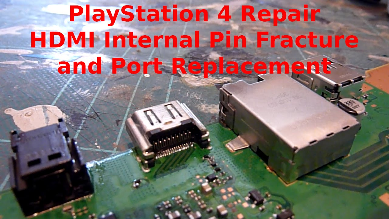 Playstation 4 Ps4 Repair Hdmi Socket Internal Pin Break