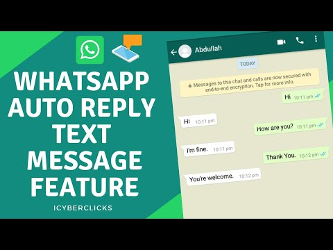 Whatsapp Auto Reply Text Message Feature (2019) (HD)