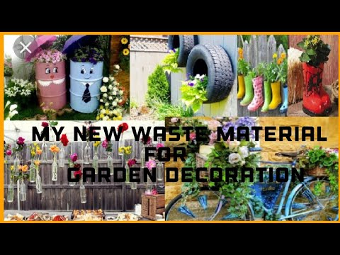 My new waste material item as a planter and garden decoration