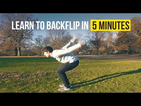 HOW TO BACKFLIP   Learn in 5 Minutes   Tricking Tutorial